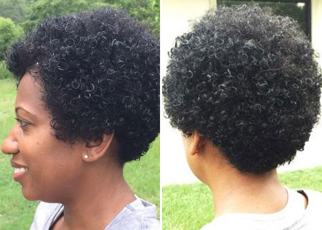 round tapered curly haircut