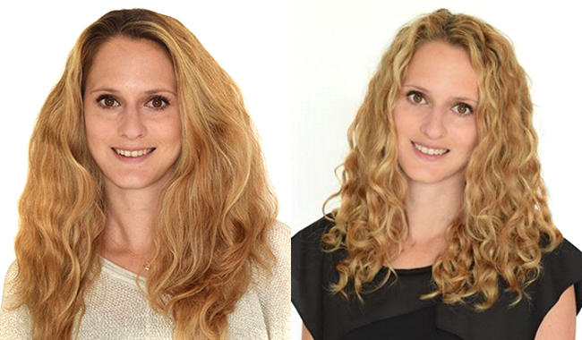 curly hair before after