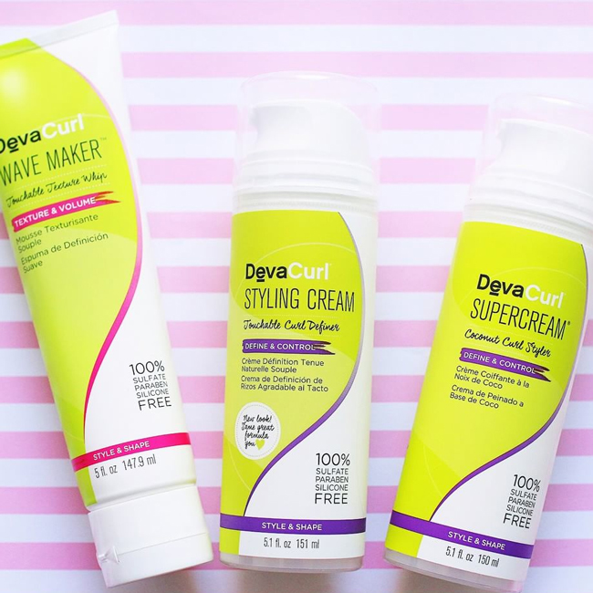 new devacurl products wave maker, styling cream, supercream
